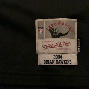 competitive price 94ae8 3b375 Mitchell & Ness Brian Dawkins Split Jersey